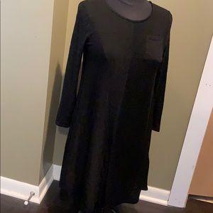 Xhilaration long sleeve black dress sz L (10/12)